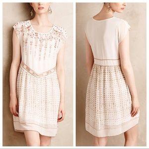 One September Pink, Gold, & White Calliope Dress